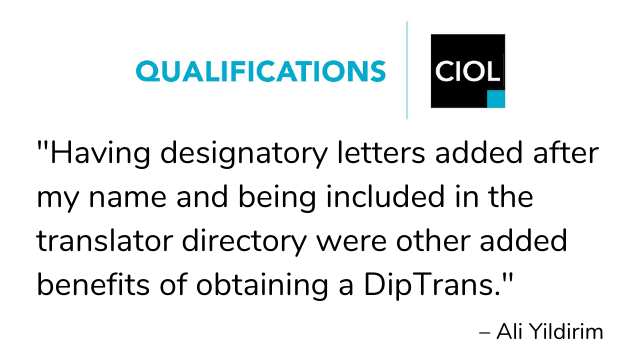 """DipTrans-quote-3_0 Benefits of being a """"professional, qualified and chartered linguist"""""""